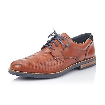Rieker 13511-24 Men's Lace Up Leather Shoes In Brown