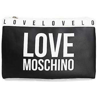 אהבה Moschino מודגש לוגו מצמד שקית