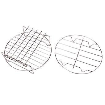 2x Stainless Steel Fryer Double Rack Cooking PartS 8inch for 4.2-6.8QT
