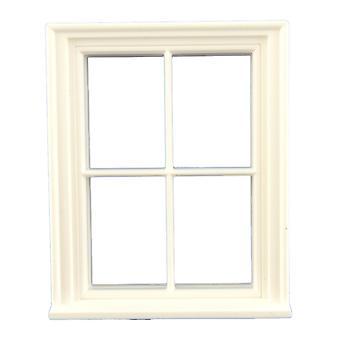 Puppen Haus 01:24 Maßstab klassische weiße Kunststoff georgischen 4 Fenster halb Zoll