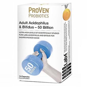 Proven Probiotics Adult Acidophilus & Bifidus 50 Billion Caps 14 (PR20)