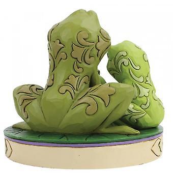 Amorösa amfibier (prinsessan och grodan) Disney traditioner figurin