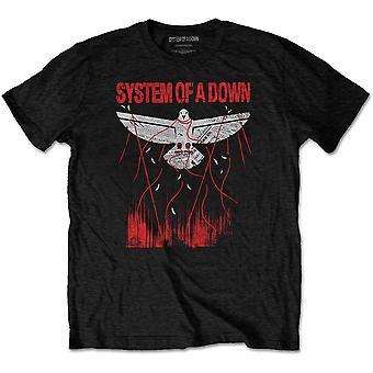System Of A Down - Dove Overcome Men's Medium T-Shirt - Black