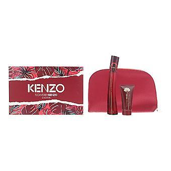 Kenzo Flower L'Elixir Eau de Parfum 50ml, Body Milk 50ml & Pouch Gift Set