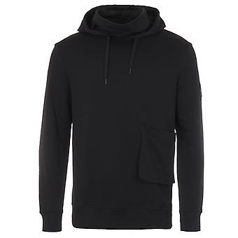 Lyle & Scott Face Covered Organic Cotton Hooded Sweatshirt - Black