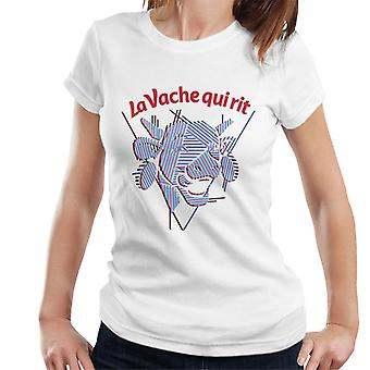 Den grinende ko strimler kvinders T-shirt