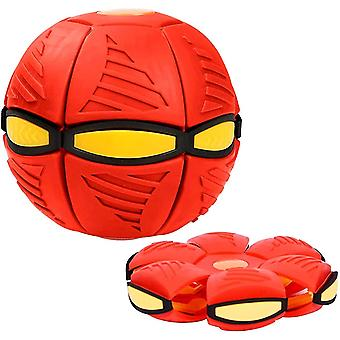 Magic Ufo Ball , Outdoor Parent-child Game Ball(Red)