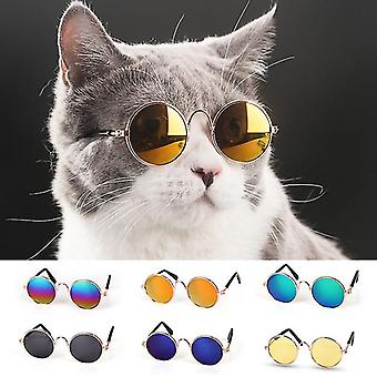 Lovely Pet Cat Szemüveg Kis kutya szemüveg Kisállat termékek Little Dog Cat Eye-Wear Dog napszemüveg