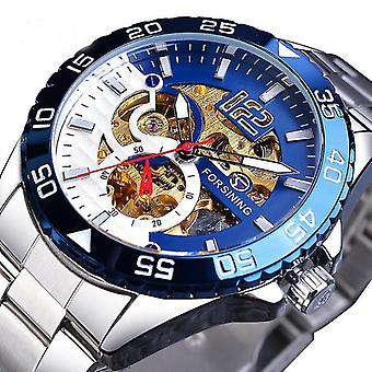 FORSINING TM366G Fashion Men Automatic Watch Business Stainless Steel Strap Mec