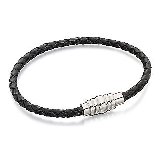 Fred Bennett Män Black Strand Armband av längd 19cm B4997