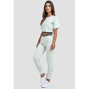 Womens Stretch Tracksuit Yoga Fitness Two Piece Tank Top Leggings Suit Set
