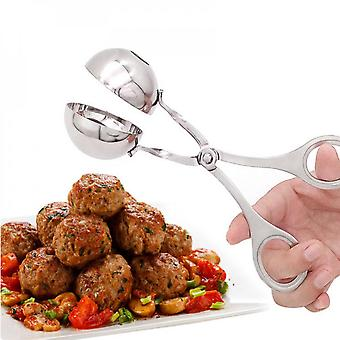 Kitchen Newbie Meatball Maker Toolor Stainless Steel Stuffed Meatball Clip Diy Fish Meat Rice Ball Maker Non-stick Meatball Mold