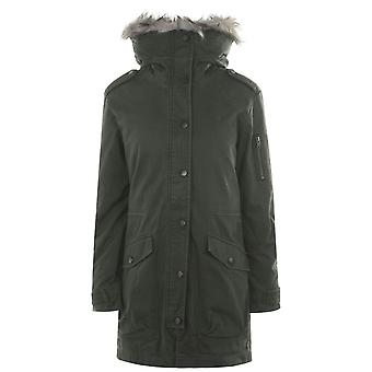 Jack Wills Everlyn Detachable Faux Fur Parka Jacket