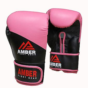 Amber Boksning Pro Uddannelse Handsker Stansning Workout Hook og Loop Sparring Mitts Pink