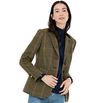 Joules Femme Gillingham Longline Tweed Blazer