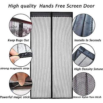 Magnetic Fly Screen Door, YRH Heavy Duty Bug Mesh Curtain with Powerful Magnets and Full Frame Magic