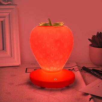 LED Strawberry Night Light Touch USB Table Lampe Chambre Lampe de Chevet pour Enfants couleur rouge