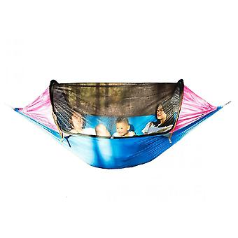 Double Aluminum Pole Hammock Outdoor Anti-rollover Swing Single Outdoor Camping Equipment Household Indoor Hanging Chair 270*140cm