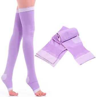Lady Chaussettes de compression Fat Burn Leg Slim Varices Cuisses Hauts Bas