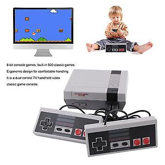 Mini Dual Control TV Kädessä pidettävä videopelikonsoli sisäänrakennettu 500 klassista peliä