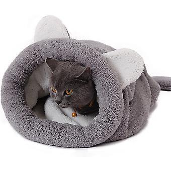 Psí dům Kočičí dům Teddy Malý a Střední čtyři roční období Dog Cat Mat Polouzavřený univerzální spacák pro domácí mazlíčky, velký, šedý
