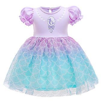 Dievča Kid Princezná šaty s krátkym rukávom tyl tutu šaty Narodeninová oslava
