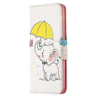 Cas pour Xiaomi Redmi 9c Pattern Cute Elephant