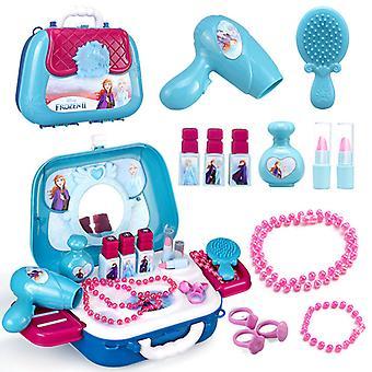 Girls Cosmetics Backpack Dressing Makeup Toy Set Kids Pretend Toy Storage Box