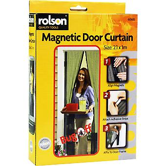 Magnetyczne drzwi kurtyna z dwoma ekranami drzwi siatki