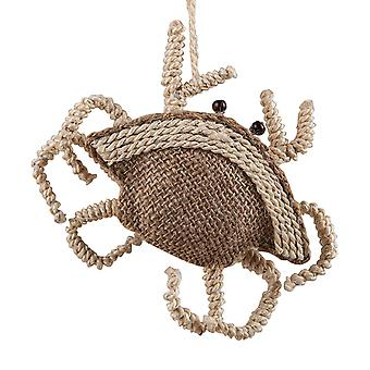 Natuurlijke touw jute krab 7,5 Inch Christmas Ornament vakantie
