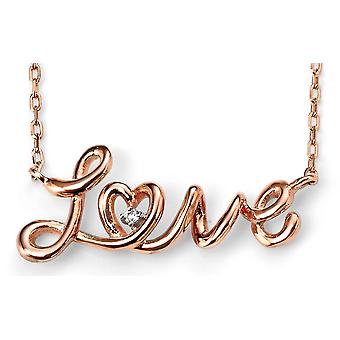 925 Silver Love Rose Gold Plated Necklace Trend