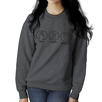 Papir saks Rock kvinners Sweatshirt