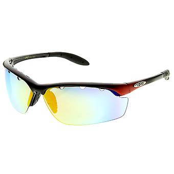 X-Loop Brand Eyewear Semi-Rimless Half Jacket Frame Sports Wrap Xloop Sunglasses