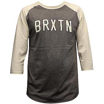 Camiseta de manga 3/4 de Brixton Hamilton gris crema