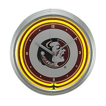 NCAA Florida State Seminoles 15 pouce Neon murale ou horloge de table