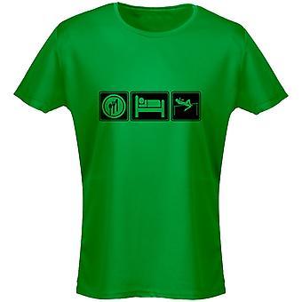 Äta sova friidrott Womens T-Shirt 8 färger (8-20) genom swagwear