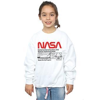NASA flickor klassiska rymdfärjan Sweatshirt