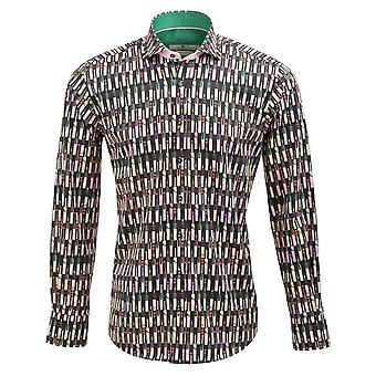 Claudio Lugli Cricket Bat Print Mens Shirt