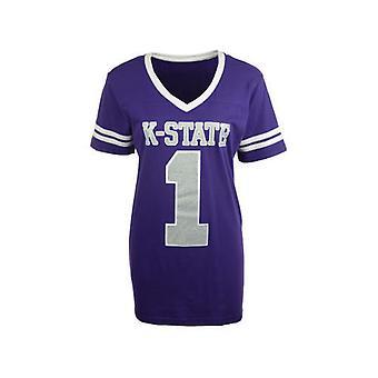 Kansas State Wildcats NCAA Press Box V-Neck Jersey Tee
