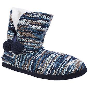Divaz Womens/Ladies Vienna Pull On Knitted Fluffy Bootie Slippers