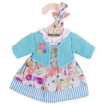 Bigjigs Toys Turquoise Cardigan & Dress (28cm) Clothing Outfit Dress Up