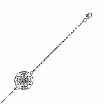 Orphelia Silber 925 Armband Circle schwarz ZA-6035/3
