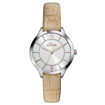 montre montre-bracelet en cuir s.Oliver féminin SO-3123-LQ