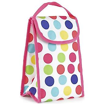 Quality 600D Polyester Personal Polka Dots Design Lunch Bag - Cool Bag With Tough Velctro Closure