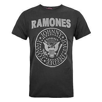 Versterkte officiële Mens Ramones Logo T-Shirt