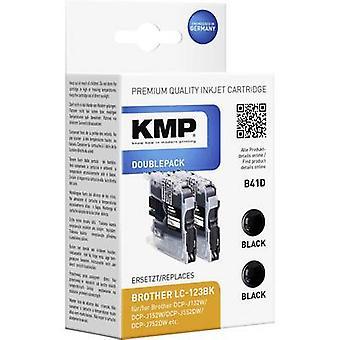 KMP de tinta sustituye Brother LC-123 Compatible Pack de 2 negro B41D 1525,0021