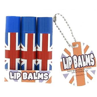 Union Jack Wear Union Jack 3 Pack Lip Balm