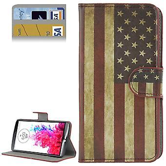 Mobiltelefon case fodral för mobiltelefon LG G3 retro flagga USA