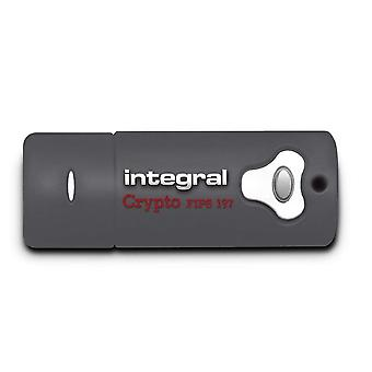 Integral INFD8GCRY3.0197 Crypto FIPS 197 4 GB USB 3.0 Flash Drive with 256 Bit AES Hardware Encryption