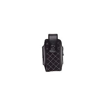 Universal corpo luva acolchoada Cellsuit bolsa w / belt clip giratório - preto/branco